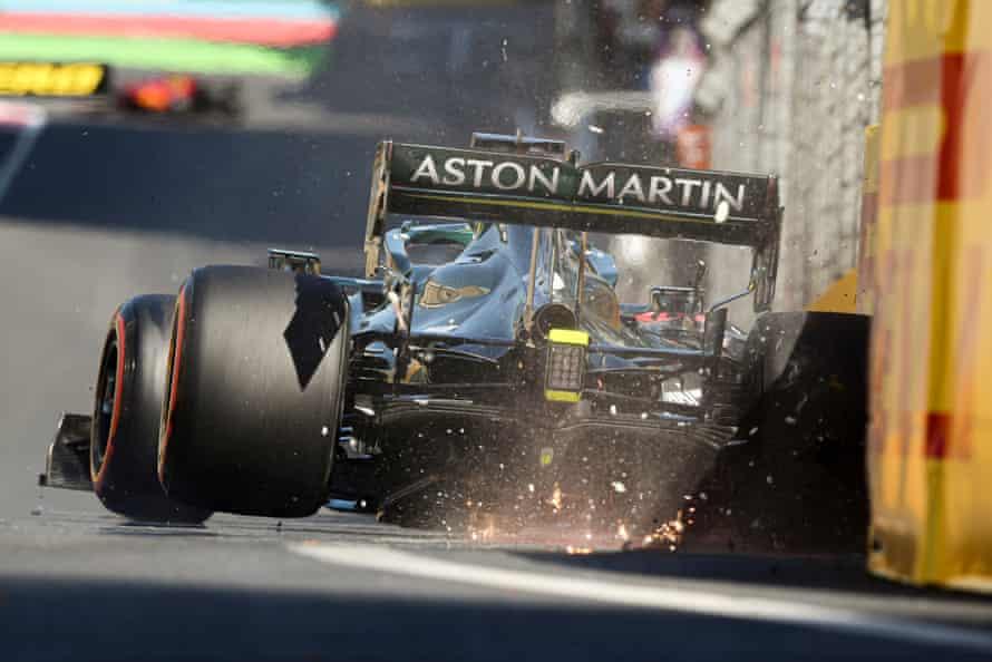 Lance Stroll crashes during qualifying