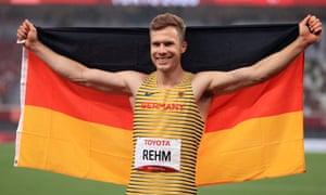 Markus Rehm of Germany celebrates another gold.