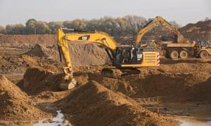Bulldozers at work at Brampton