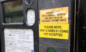 A customer notice on a car park ticket machine in Oxford
