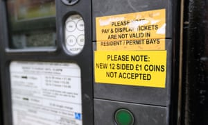 A notice on a car park ticket machine in Oxford.