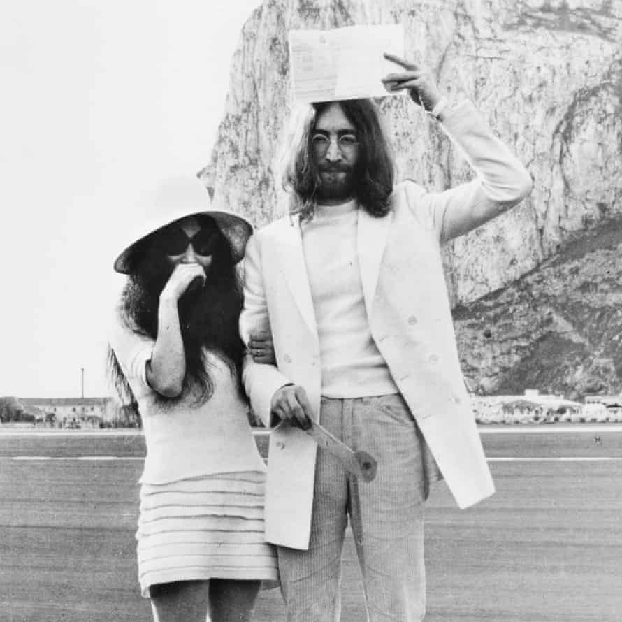 John Lennon and Yoko Ono are married in Gibraltar, 1969 – their wedding outfits are on show in Double Fantasy.