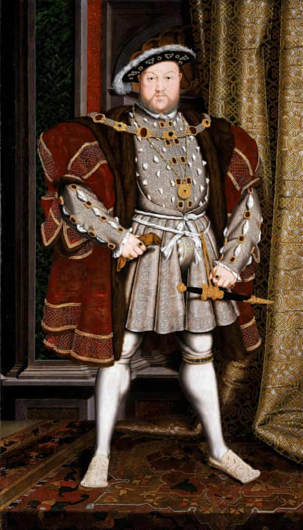 A portrait of King Henry VIII, by Hans Holbein.