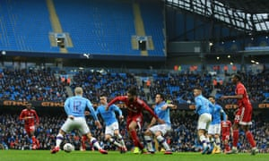 Manchester City against Fulham did not fill out the Etihad on Sunday in the FA Cup.