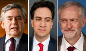 Gordon Brown, Ed Miliband and Jeremy Corbyn