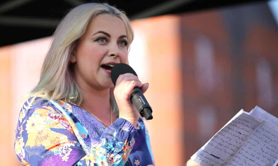 Charlotte Church with microphone