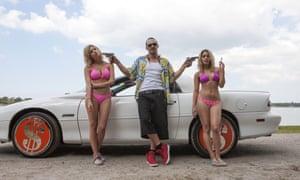 Ashley Benson, James Franco and Vanessa Hudgens in Spring Breakers.