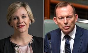 Zali Steggall and Tony Abbott