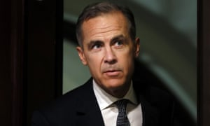 Mark Carney, Governor of the Bank of England arriving for today's quarterly Inflation Report press conference.