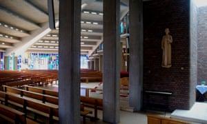The interior of the Church of St Thomas More at Sheldon, Birmingham, by Richard Gilbert Scott