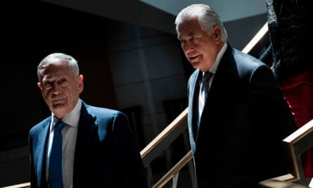 James Mattis and Rex Tillerson have taken a very different line from their boss on global affairs.