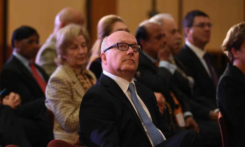 Attorney general George Brandis at the Magna Carta 800th anniversary celebration at Parliament House