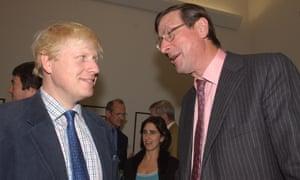 Boris Johnson and Max Hastings