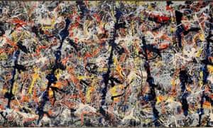 Blue Poles by Jackson Pollock.