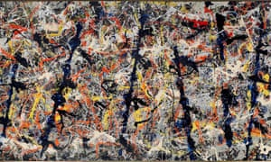 Jackson Pollock's Blue Poles, (1952), on loan from Canberra.