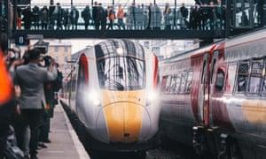 A new Azuma train belonging to Virgin Trains East Coast.