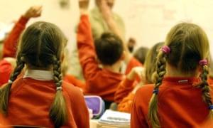 Primary school children in England.