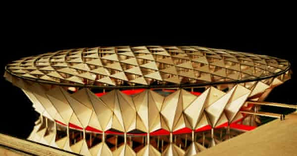 dRMM's 2009 proposal for a wooden arena (unbuilt) for the London Olympics.