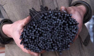 Charcoal produced in the Somerset Levels.