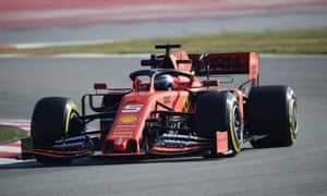 Sebastian Vettel driving for Ferrari during the eighth day of testing at the Circuit de Catalunya