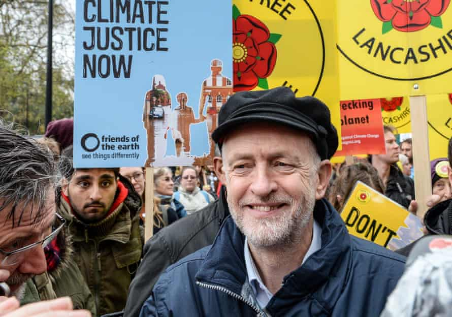 'Under Jeremy Corbyn's leadership, the Labour party's membership has triple.' Corbyn at the London Climate March 2015.