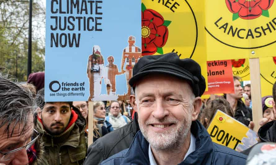 Jeremy Corbyn at the People's March For Climate Justice And Jobs on 29 November 2015 in London.