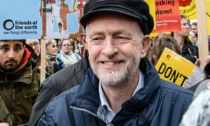 Jeremy Corbyn at Sunday's climate march in London