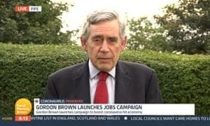 Gordon Brown on ITV's Good Morning Britain on Friday