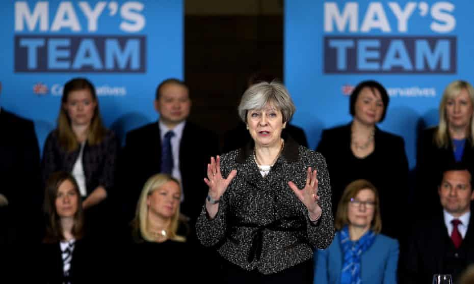 Theresa May speaking in York