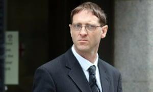 Robert Rhodes leaving court.