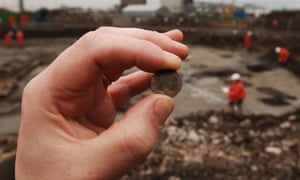 A Roman coin from the period of Emperor Constantine II (AD 330-335) was unearthed at the Olympic construction site in 2007.