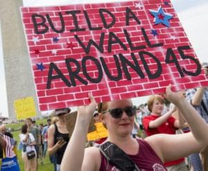 Demonstrators in Washington.