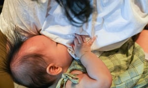 A child being breastfed