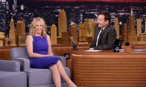 Chelsea Handler during an interview with Jimmy Fallon on the Tonight Show.