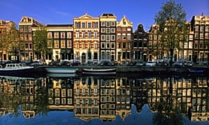 'Made entirely from material things' … Amsterdam is one of the travel destinations in the novel. Photograph: Alamy