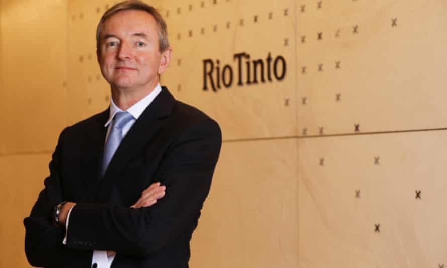Simon Thompson in front of Rio Tinto signage