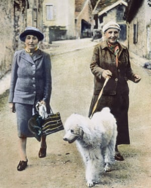 Gertrude Stein (right) 'had a laugh like a beefsteak', with Alice B Toklas.