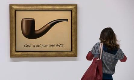 René Magritte's 1929 painting La Trahison des Images, ceci n'est pas une pipe.