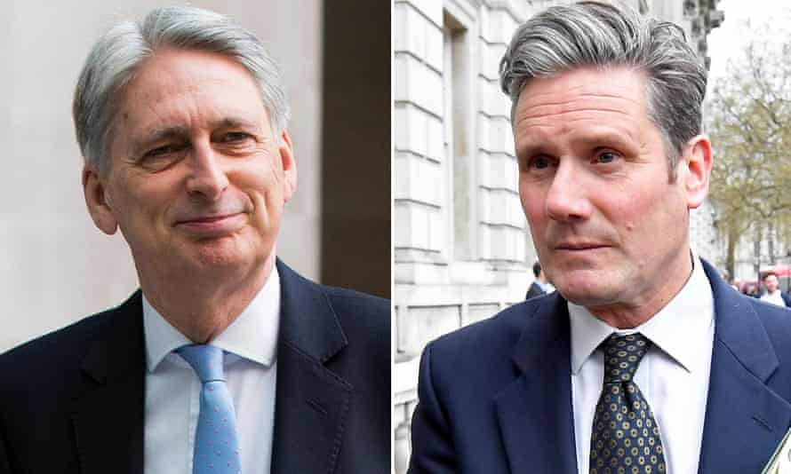 Philip Hammond and Keir Starmer.