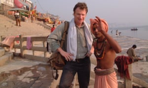Kevin on a later solo trip, to Varanasi, India, in 2001.