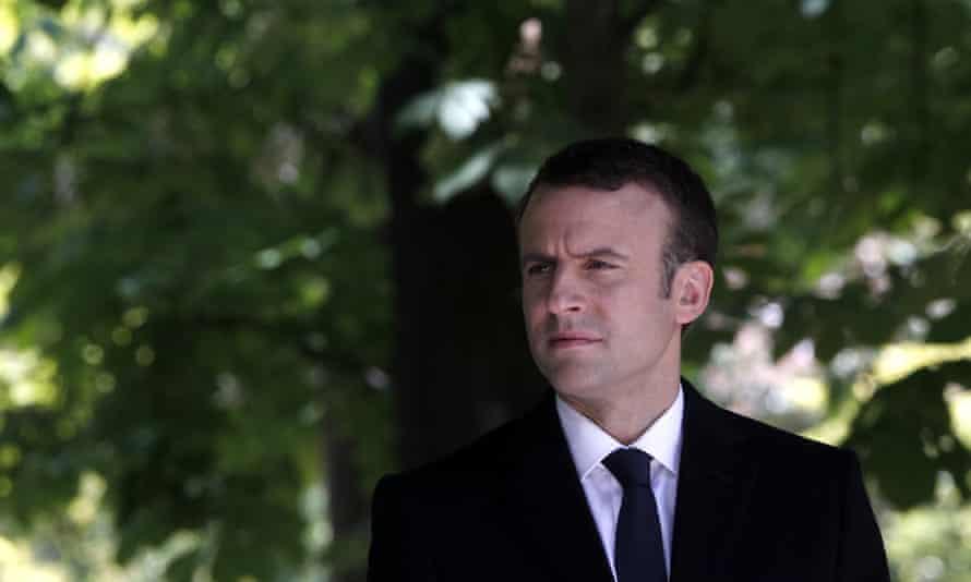 French president-elect Emmanuel Macron