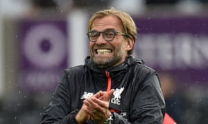 Jürgen Klopp said of his first anniversary of joining Liverpool on 8 October: 'We will not celebrate, I can tell you that – hopefully nobody brings me a cake!'