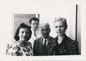 Left to right, Tilde Cohen, Alfred Cohen, Haimaki Cohen and Rachel Cohen in 1941.