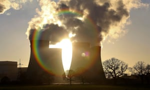 The sun shines behind Drax coal-fired power station. Analysts say the milestone illustrates coal's dramatic decline.