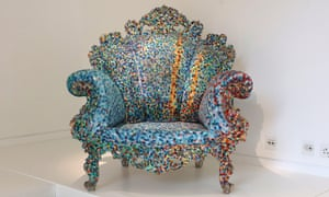 A Proust armchair by Alessandro Mendini.