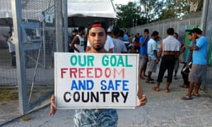 About 600 refugees and asylum seekers are refusing to leave the now closed detention centre on Manus Island, saying they are not safe in the community.