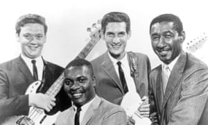 Booker T Jones, front, with Donald 'Duck' Dunn, Steve Cropper and Al Jackson.