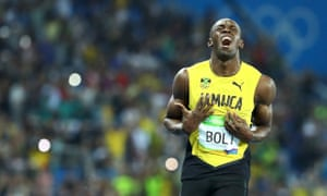Usain Bolt crossed the line in 19.78sec.