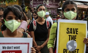 Protest against climate change in Mumbai