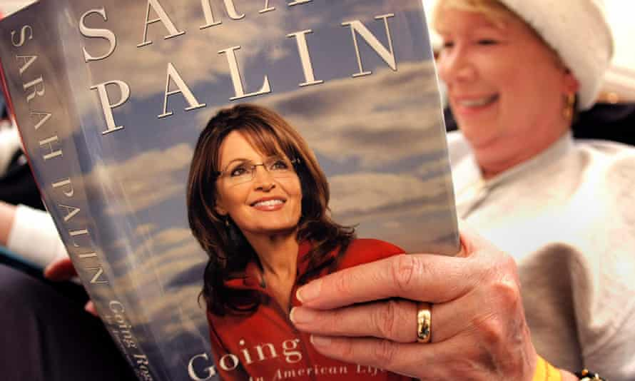 Books for believers … Pat Morgenstern of Middleville, Michigan reads Sarah Palin's Going Rogue soon after its publication in November 2009.